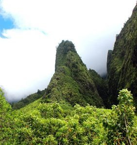 Iao Needle naturally occurring rock formation on Maui