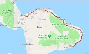 map of the road to hana on Maui