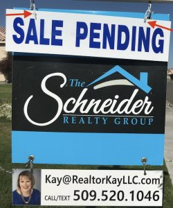 Sale pending sign put up with wire ties