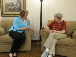 Talking with a senior client