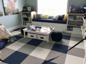 Shades of blue playroom